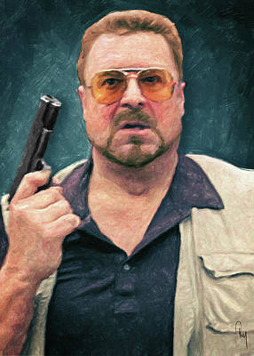 Jeff Bridges Painting - Walter Sobchak by Taylan Apukovska