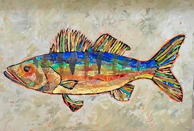 Painting - Walter The Walleye by Phiddy Webb
