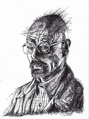Walter White Line Drawing Original by Lorraine Kelly