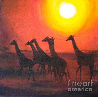 Painting - Walters Africa by Sandra Phryce-Jones