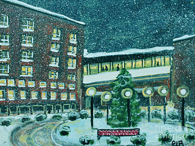 Waltham Painting - Waltham Hospital On Hope Ave by Rita Brown