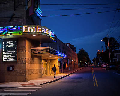 Waltham Photograph - Waltham Ma Embassy Theater by Toby McGuire