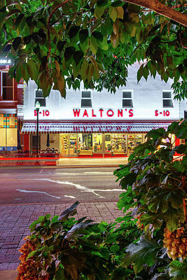 Photograph - Walton Five And Dime - Downtown Bentonville Arkansas - Color by Gregory Ballos