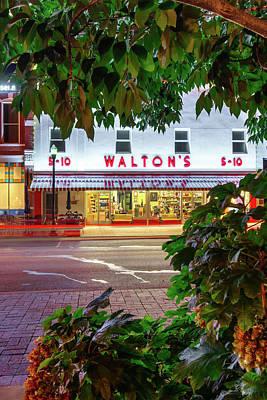 Photograph - Walton Five And Dime - Downtown Bentonville Arkansas - Color by Gregory Ballos