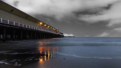 Grey Clouds Photograph - Walton Pier by Martin Newman