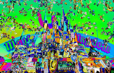Magic Kingdom Digital Art - Walt's Majic Kingdom by David Lee Thompson