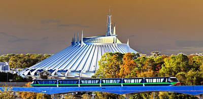 Monorail Photograph - Walts Modern Vision by David Lee Thompson
