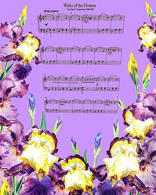 Royalty-Free and Rights-Managed Images - Waltz Of The Flowers Dancing Iris by Irina Sztukowski