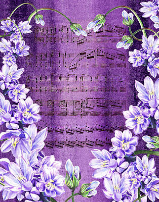 Royalty-Free and Rights-Managed Images - Waltz Of The Flowers In Purple by Irina Sztukowski
