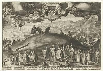 Drawing - Walvis   Op 13 Januari 1601 Aangespoeld Bij Beverwijk  Jan Saenredam  1602 by R Muirhead Art