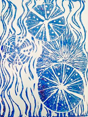 Print Making Painting - Wana 4 by Jamie Laniakea Clark