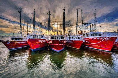 Photograph - Wanchese Fishing Company Fleet by Jerry Gammon