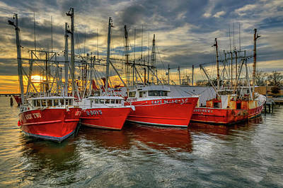 Photograph - Wanchese Fleet Hampton by Jerry Gammon