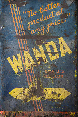Art Print featuring the photograph Wanda Motor Oil Vintage Sign by Christina Lihani