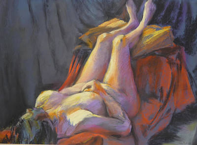 Painting - Wanda Reclining by Joan  Jones
