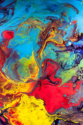 Modern Painting - Wanderer - Abstract Colorful Mixed Media Painting by Modern Art Prints
