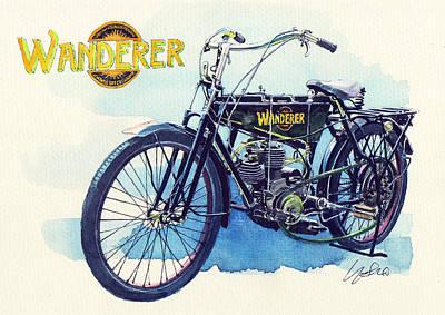 Wanderer Classic Bike Art Print
