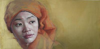 Introspective Painting - Wanderer by Jennifer Anderson