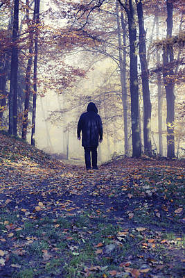 Walking Away Photograph - Wanderer by Art of Invi