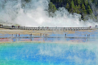 Photograph - Wandering And Wondering At Grand Prismatic Spring 02 by Bruce Gourley