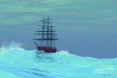 Boating Digital Art - Wandering by Corey Ford