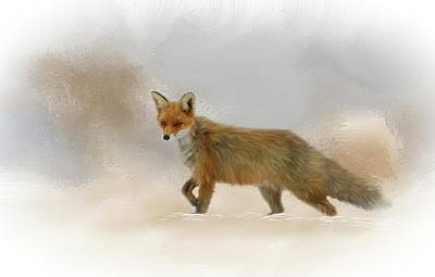 Mixed Media - Wandering Fox by Mary Timman