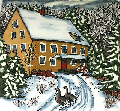 Snow Geese Painting - Wandering Geese by Linda Marcille