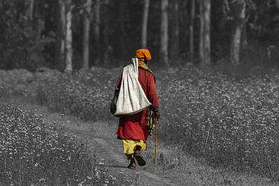 Photograph - Wandering Holy Man by Ramabhadran Thirupattur