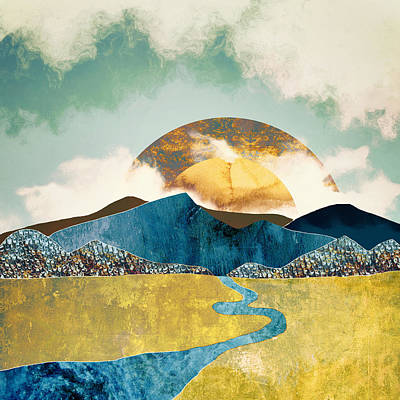 Abstract Landscape Digital Art - Wanderlust by Katherine Smit