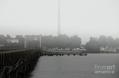 Photograph - Wando River Bridge Fog by Dale Powell