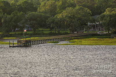 Photograph - Wando River Dock And Home by Dale Powell