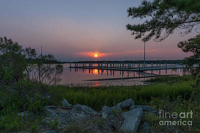 Photograph - Wando River Marina Sunrise by Dale Powell