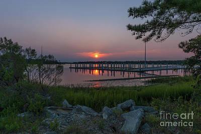 Photograph - Wando River Marina Sunrise by Dale Powell