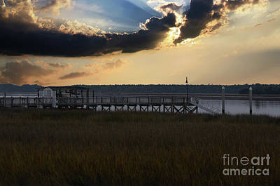 Audrey Hepburn - Wando River Sky by Dale Powell