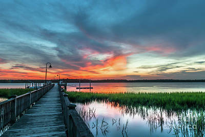 Photograph - Wando River Sunset Burst by Dale Powell