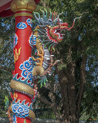 Photograph - Wang Sam Sien Lao Tzu Shrine Dragon Pillar Dthcb0034 by Gerry Gantt
