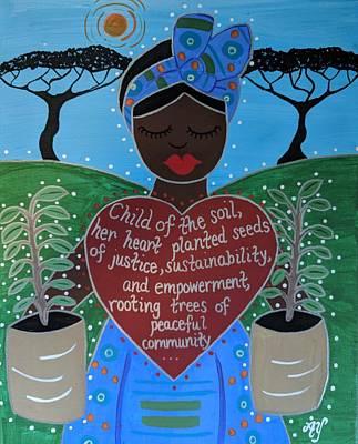 Painting - Wangari Maathai by Angela Yarber