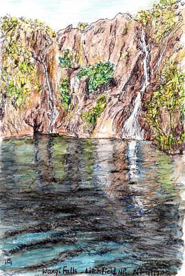 Drawing - Wangi Falls by Anne Huth