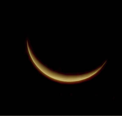 Photograph - Waning Crescent Moon by Bellesouth Studio
