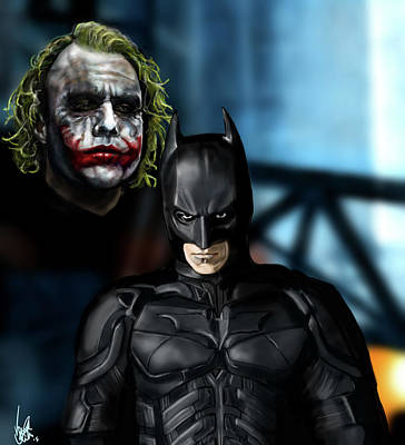 The Dark Knight Painting - Wanna Know How I Got These Scars? by Vinny John Usuriello
