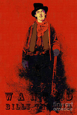 Wanted Billy The Kid 20130211gm180 Art Print by Wingsdomain Art and Photography