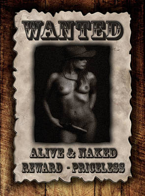 Wanted  Art Print by Naman Imagery