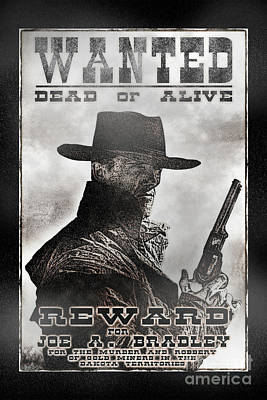 Wanted Poster Notorious Outlaw Art Print