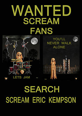 Kate Middleton Mixed Media - Wanted Scream Fans by Eric Kempson