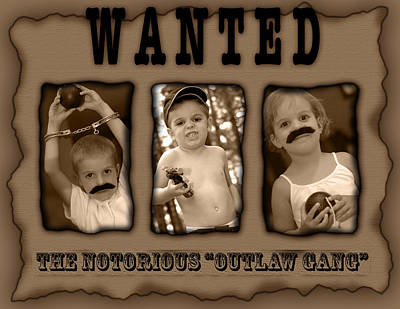 Photograph - Wanted The Outlaw Gang by Jill Reger