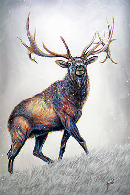 Painting - Wapiti Wonders by Teshia Art