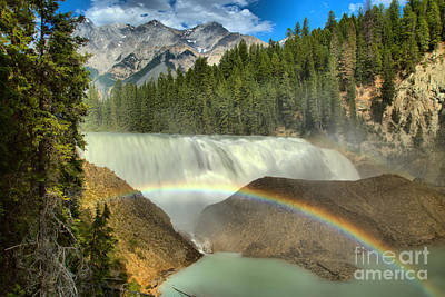 Photograph - Wapta Falls Rainbow by Adam Jewell