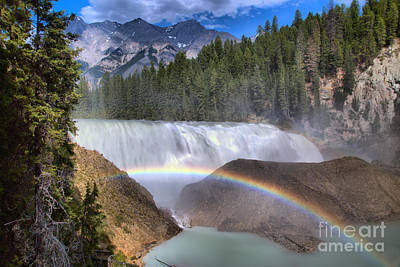 Photograph - Wapta Falls Summer Rainbow by Adam Jewell