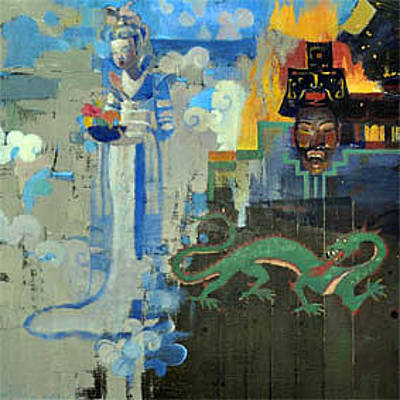 Painting - War And Peace In Ancient China by Maury Hurt