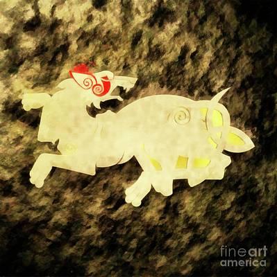 Liberty Painting - War Beast By Sarah Kirk by Sarah Kirk